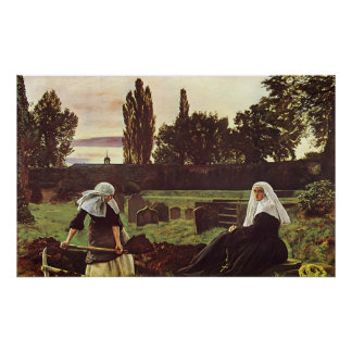 John Everett Millais The Vale of Rest Poster