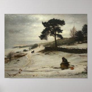 John Everett Millais - viento del invierno de mil Póster