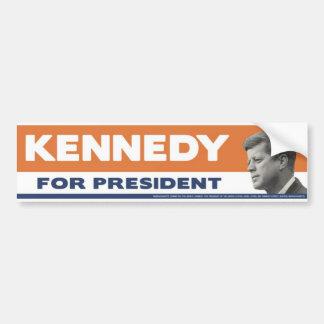 John F. Kennedy 1960 para el presidente pegatina p Pegatina De Parachoque