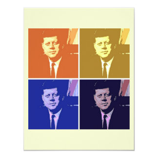 John F Kennedy 4.25x5.5 Paper Invitation Card
