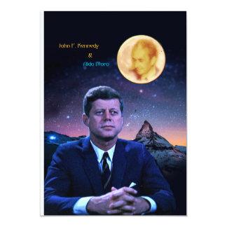 John F. Kennedy and Aldo Moro 5x7 Paper Invitation Card