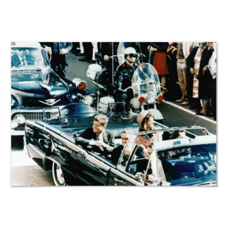 John F Kennedy and Jackie in the Motorcade Dallas 3.5x5 Paper Invitation Card