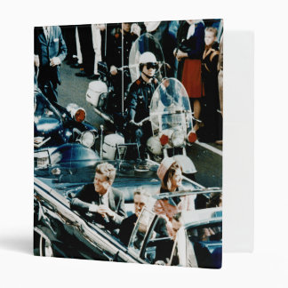 John F Kennedy and Jackie in the Motorcade Dallas Binder