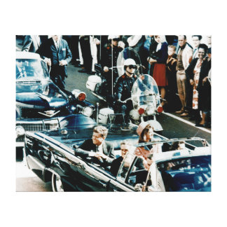 John F Kennedy and Jackie in the Motorcade Dallas Canvas Print