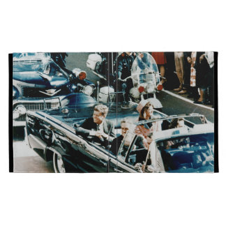 John F Kennedy and Jackie in the Motorcade Dallas iPad Cases