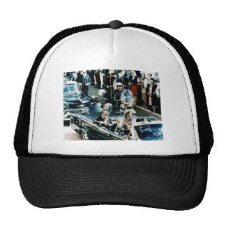 John F Kennedy and Jackie in the Motorcade Dallas Trucker Hat