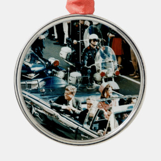 John F Kennedy and Jackie in the Motorcade Dallas Metal Ornament