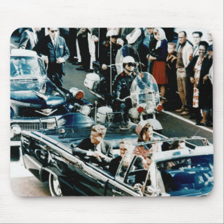 John F Kennedy and Jackie in the Motorcade Dallas Mouse Pad