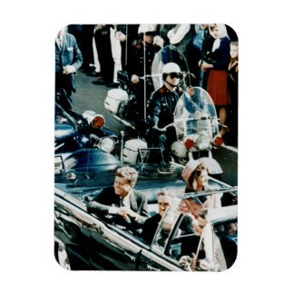 John F Kennedy and Jackie in the Motorcade Dallas Rectangle Magnet