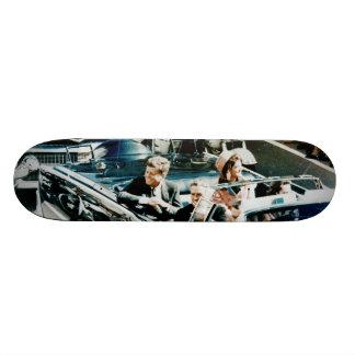 John F Kennedy and Jackie in the Motorcade Dallas Skateboard