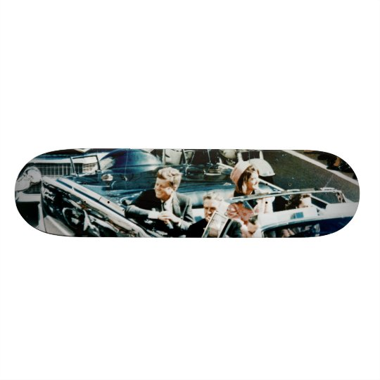 John F Kennedy and Jackie in the Motorcade Dallas Skateboard