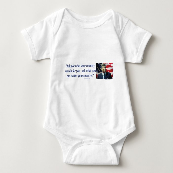 John F Kennedy - Ask Not What your Country Baby Bodysuit