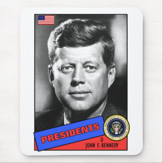 John F. Kennedy Baseball Card Mouse Pad