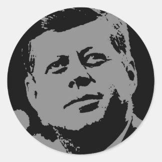 John F. Kennedy  black and grey silhouette Classic Round Sticker