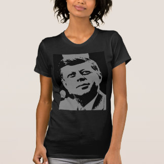 John F. Kennedy  black and grey silhouette T Shirt