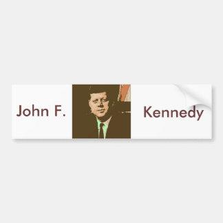 John F. Kennedy Pegatina De Parachoque