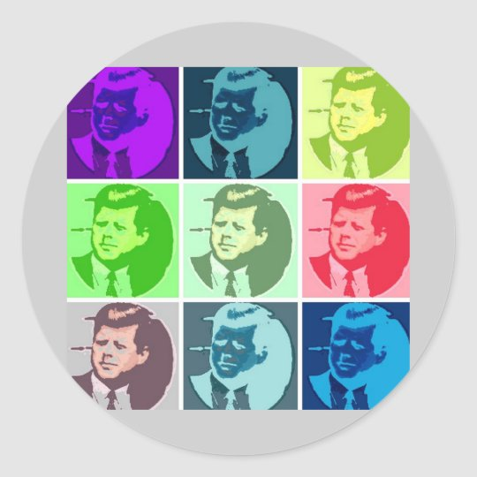 John F Kennedy Classic Round Sticker