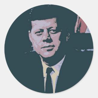 John F. Kennedy Classic Round Sticker