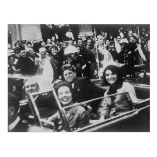 John F. Kennedy desfile de automóviles Dallas Postal