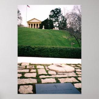 John F. Kennedy Eternal Flame w/Arlington House Pr Poster