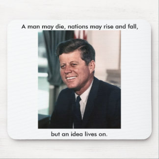 John F. Kennedy, foto de color de la Casa Blanca P Tapete De Raton