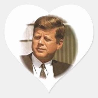 John F Kennedy Heart Sticker