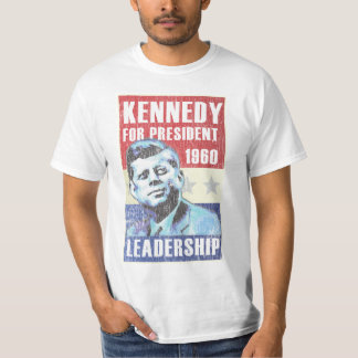 John F. Kennedy Historic President Campaign Poster T-Shirt