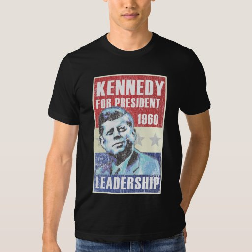 John F. Kennedy Historic President Campaign Poster T-shirts
