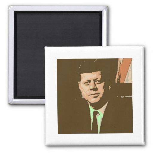 John F. Kennedy Imán Cuadrado