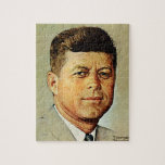 """John F. Kennedy IN MEMORIAM Jigsaw Puzzle<br><div class=""""desc"""">Norman Rockwell 