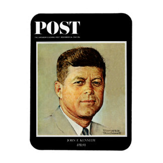 John F. Kennedy IN MEMORIAM Rectangle Magnets
