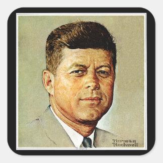 John F. Kennedy IN MEMORIAM Square Sticker
