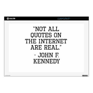 John F. Kennedy Internet Quote Laptop Decal