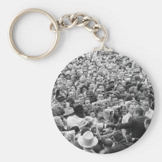 John F Kennedy JFK Fort Worth Rally '63 Keychain