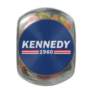 John F. Kennedy JFK, Kennedy 1960 Glass Jar