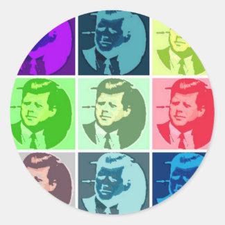 John F. Kennedy /JFK Etiqueta Redonda