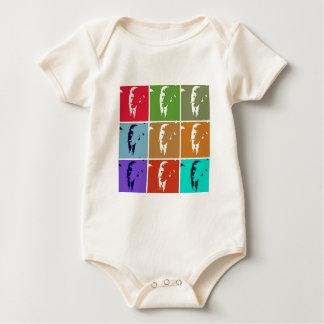 John F Kennedy/JFK  Pop Art Baby Bodysuit
