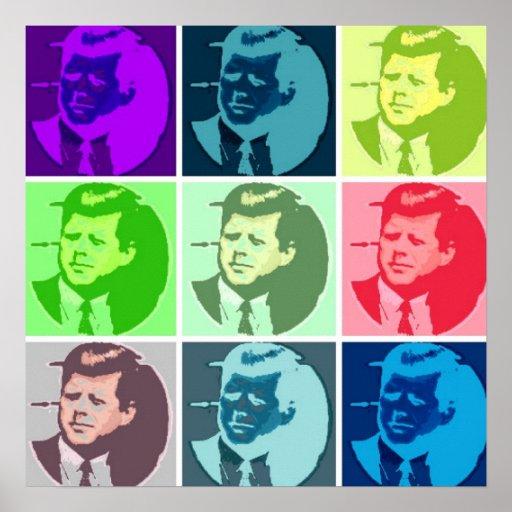 John F Kennedy/JFK  Pop Art Poster