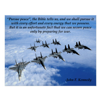 John F. Kennedy Military Poster