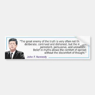 John F Kennedy - Myths Bumper Sticker