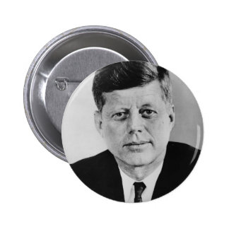 John_F_Kennedy official photo from public domain Pinback Button