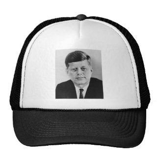 John_F_Kennedy official photo from public domain Trucker Hat