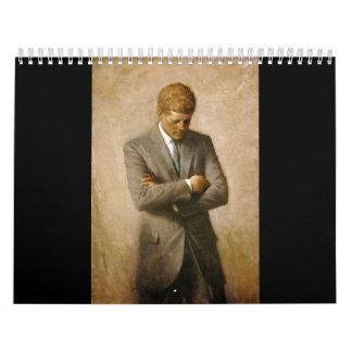 John F Kennedy Official Portrait by Aaron Shikler Calendar