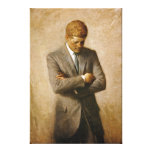 John F Kennedy Official Portrait by Aaron Shikler Canvas Print