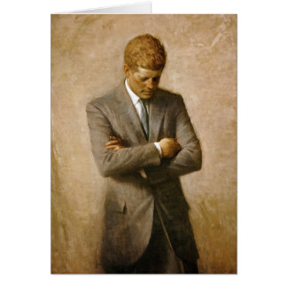 John F Kennedy Official Portrait by Aaron Shikler Card