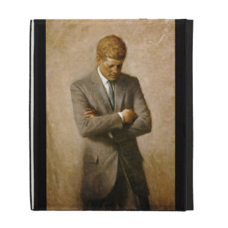 John F Kennedy Official Portrait by Aaron Shikler iPad Folio Covers
