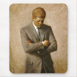 John F Kennedy Official Portrait by Aaron Shikler Mouse Pad