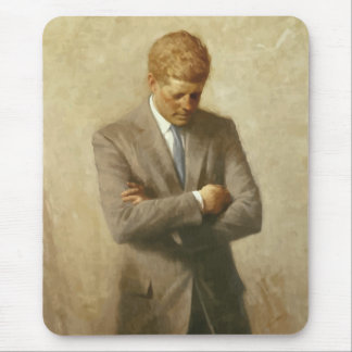 John F. Kennedy Painting Mouse Pad