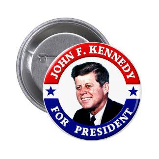 John F. Kennedy para el presidente Chapa Redonda 5 Cm
