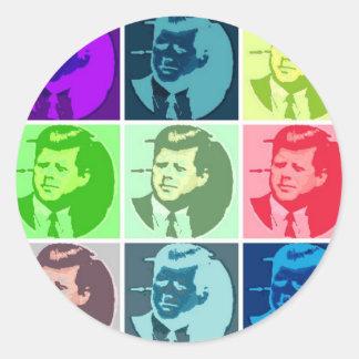 John F. Kennedy Etiquetas Redondas